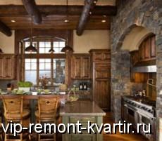 Интерьер кухни в стиле кантри - VIP-REMONT-KVARTIR.RU