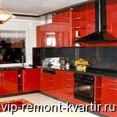 кухни в красно-черном цвете фото