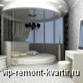 Круглая кровать в интерьере спальни - VIP-REMONT-KVARTIR.RU